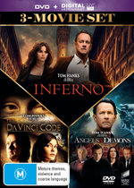 Inferno / The Da Vinci Code / Angels & Demons (3-Movie Set)