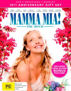 Mamma Mia!: The Movie (10th Anniversary Gift Set) (DVD / Bonus Disc / Booklet)
