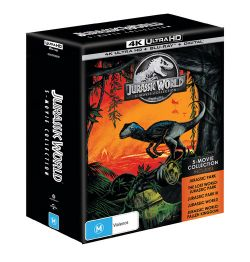 Jurassic World: 5 Movie Collection (Jurassic Park / Lost World / Jurassic Park III / Jurassic World / Fallen Kingdom) (4K UHD/Blu-ray/UV)