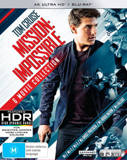 Mission: Impossible - 6 Movie Collection (Mission:Impossible/M:I-2/M:I:III/Ghost Protocol/Rogue Nation/Fallout) (4K UHD/Blu-ray/Bonus Disc)