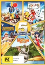 5 Great Movies (Rio / Robots / Anastasia / Fern Gully / Horton Hears a Who)