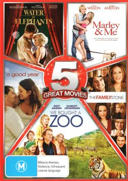 Family 5-Pack (Water for Elephants / Marley and Me / A Good Year / The Family Stone / We Bought a Zoo)