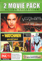2 Movie Pack: Action Collection (V for Vendetta / Watchmen: The Complete Motion Comic) (Best of Warner Bros: 90th Anniversary)