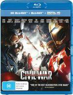 Captain America: Civil War (3D Blu-ray/Blu-ray/Digital Copy)