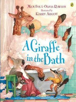 A Giraffe in the Bath