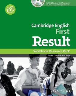Cambridge English: First Result Workbook No Key & Student CD-ROM Pack