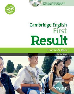 Cambridge English: First Result Teacher's Book & DVD Pack