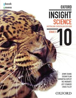 Oxford Insight Science 10 AC for NSW Student Book + obook/assess