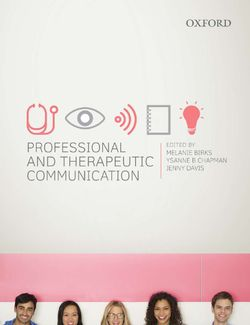 Professional and Therapeutic Communication