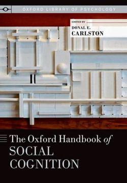 The Oxford Handbook of Social Cognition