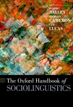 The Oxford Handbook of Sociolinguistics