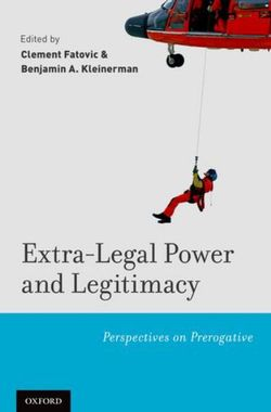 Extra-Legal Power and Legitimacy