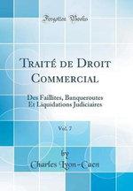 Trait de Droit Commercial, Vol. 7