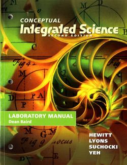Lab Manual for Conceptual Integrated Science