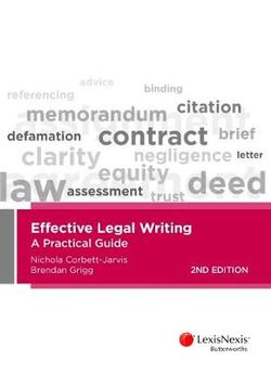 Effective Legal Writing: A Practical Guide