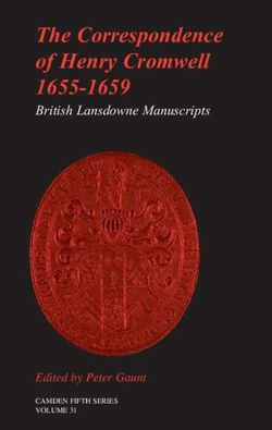 The Correspondence of Henry Cromwell, 1655-1659