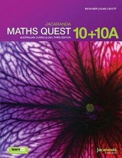 Maths Quest 10 Australian Curriculum