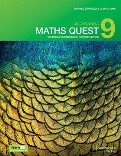 Jacaranda Maths Quest 9 Victorian Curriculum 1E (Revised) LearnON and Print