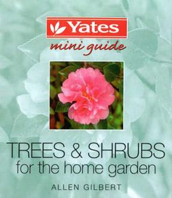 Trees and Shrubs for the Home Garden
