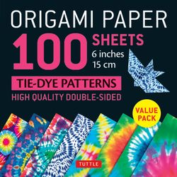 Origami Paper 100 Sheets Tie-Dye Patterns 60