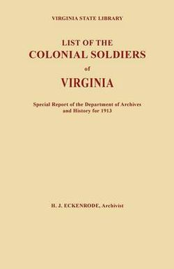List of the Colonial Soldiers of Virginia