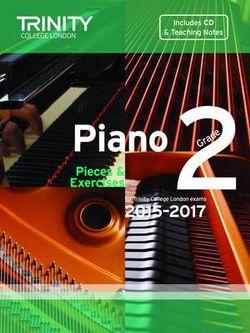 Piano 2015-2017: Grade 2