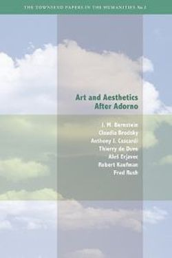 Art and Aesthetics after Adorno