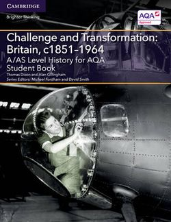 A/AS Level History for AQA Challenge and Transformation: Britain, c1851-1964 Student Book