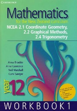 Mathematics for the New Zealand Curriculum Year 12 Workbook 1
