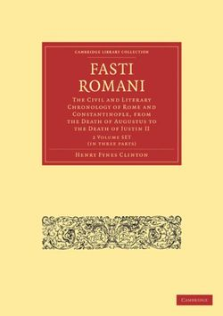 Fasti Romani 2 Volume Paperback Set