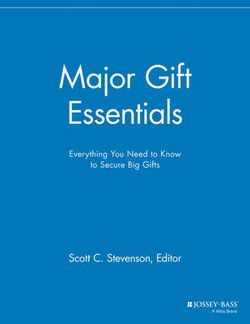 Major Gift Essentials