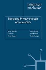 Managing Privacy through Accountability