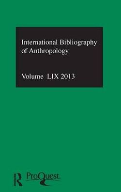 IBSS: Anthropology: 2013 Vol. 59