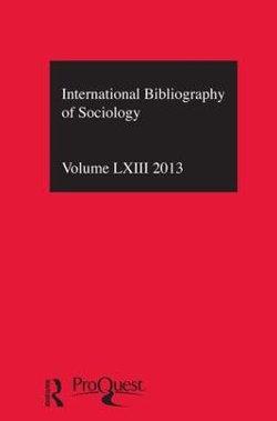 IBSS: Sociology: 2013 Vol. 63