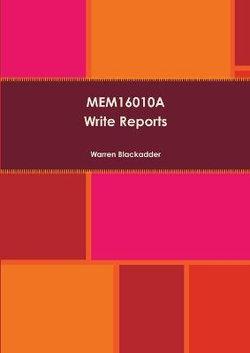 Mem16010a Write Reports