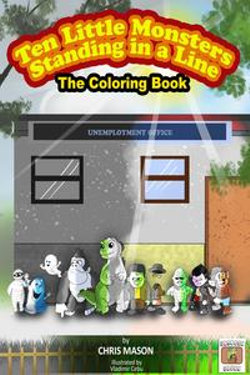 Ten Little Monsters Standing in a Line The Coloring Book