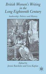 British Women's Writing in the Long Eighteenth Century