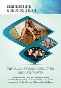 Drug and Alcohol Related Health Issues