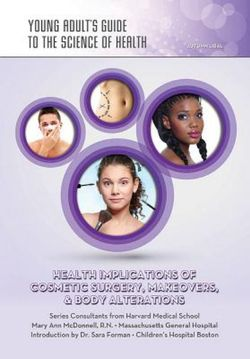 Health Implications of Cosmetic Surgery Makeovers and Body Alterations