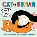 Cat vs. Human 2019 Square Wall Calendar