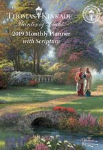 Thomas Kinkade: Painter of Light with Scripture 2019 Monthly Pocket Planner Calendar