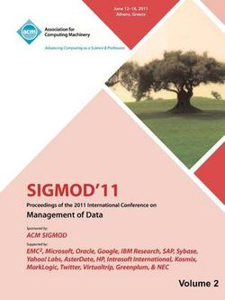 SIGMOD 11 Proceedings of the 2011 International Conference on Management of Data-Vol II