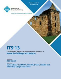 Its 13 Proceedings of the 2013 ACM International Conference on Interactive Tabletops and Surfaces