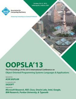 OOPSLA 13 Proceedings of the 2013 International Conferenceon Object Oriented Programming Systems Languages and Applications