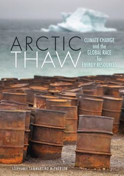 Artic Thaw Climate Change and the Global Race for Energy Resources