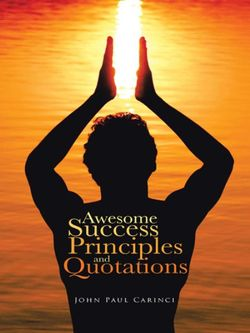 Awesome Success Principles and Quotations