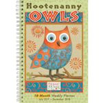 Hootenanny Owls 2018 Weekly Planner