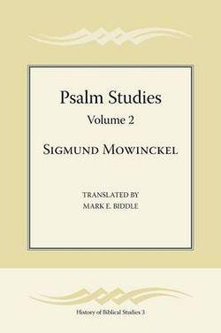 Psalm Studies, Volume 2