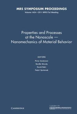 Properties and Processes at the Nanoscale - Nanomechanics of Material Behavior