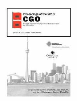 Proceedings of the 2010 CGO